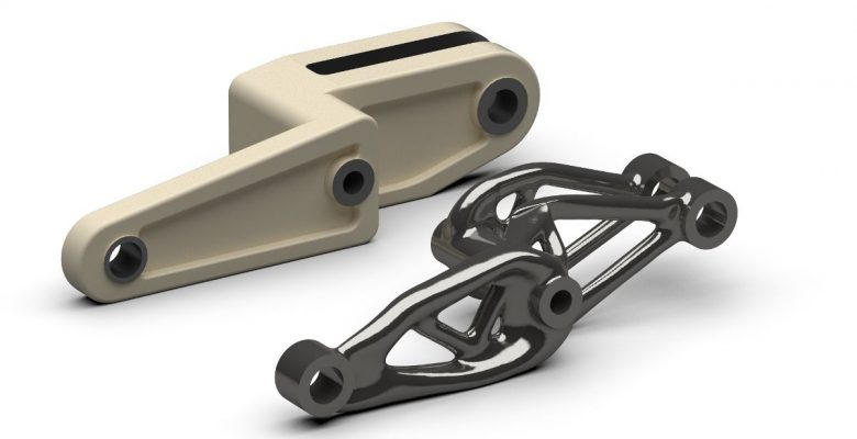 1200x900 HingePoint_generative_design Schwinge mit intergrierter Bremsscheibe