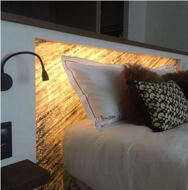 Bettbeleuchtung Steinfurnier 1